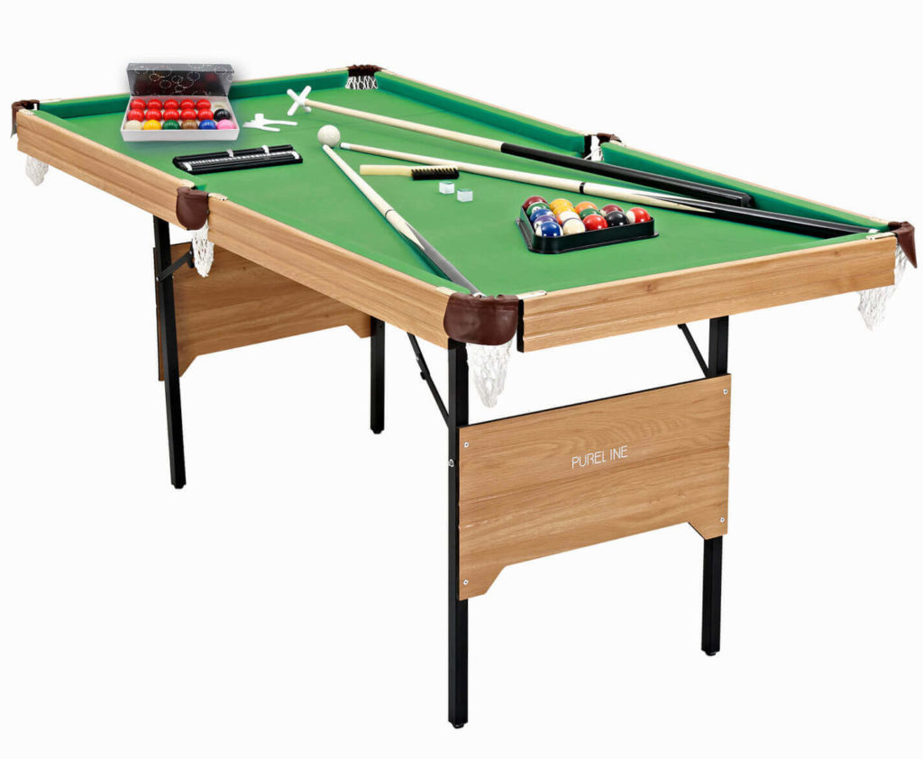 The Pureline folding snooker & pool table.